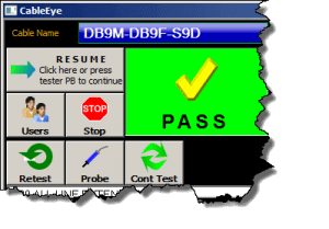 screen shot of the plus mode of the GUI
